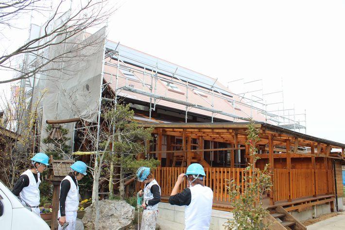屋根塗装(ガイナ) 三重県津市大里