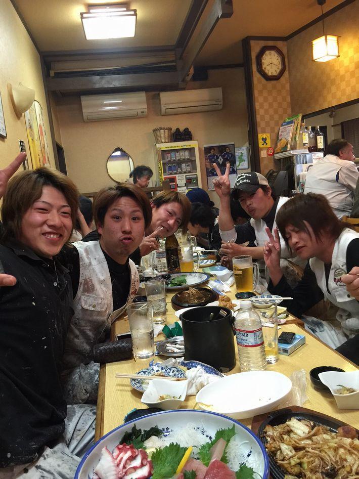 食事会の写真