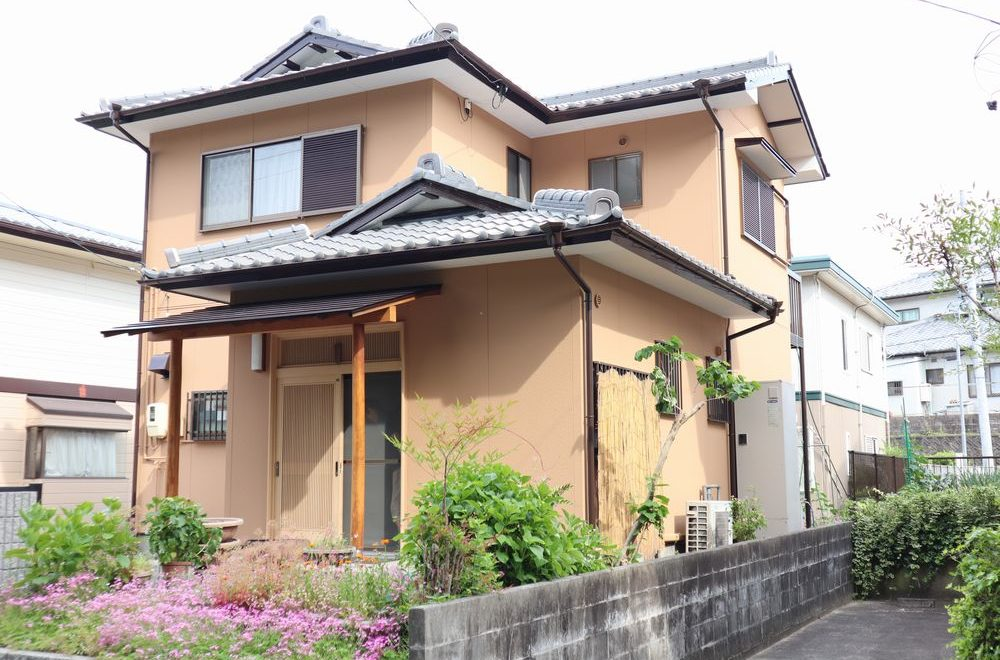 和風住宅、外壁塗装、リペイント匠