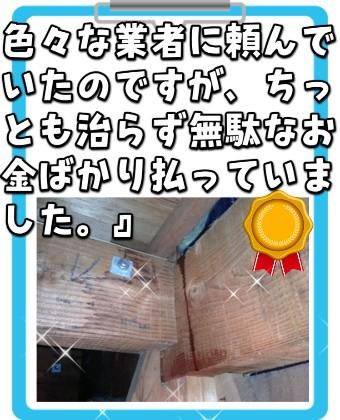 三重県津市雨漏り:リペイント匠
