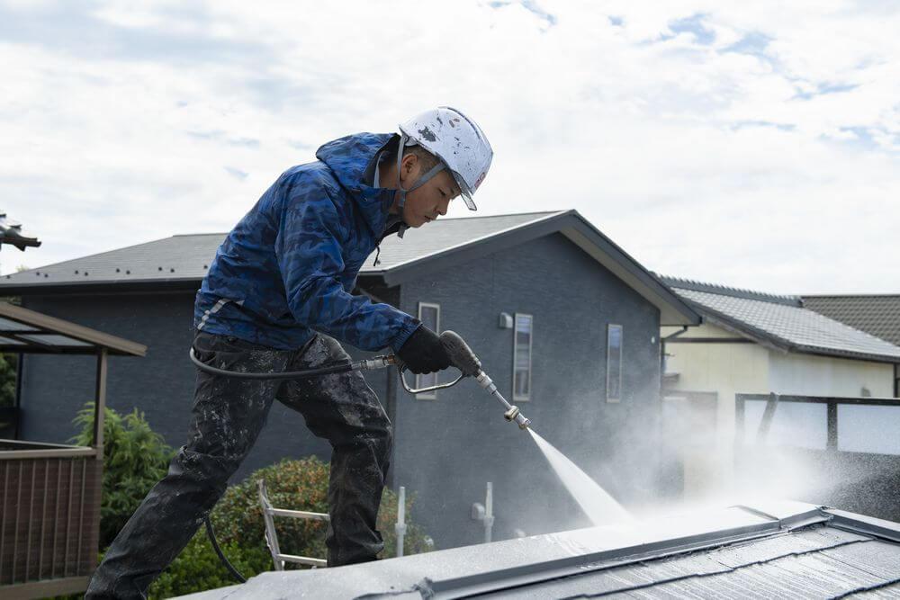 屋根高圧洗浄:リペイント匠