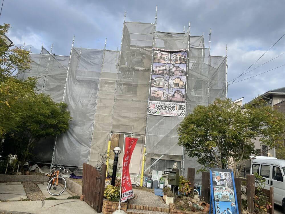 三重県津市外壁塗装前・リペイント匠