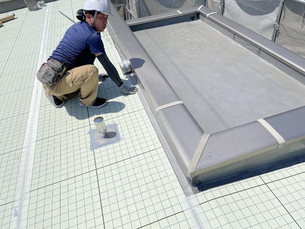 防水工事、通気緩衝工法、リペイント匠