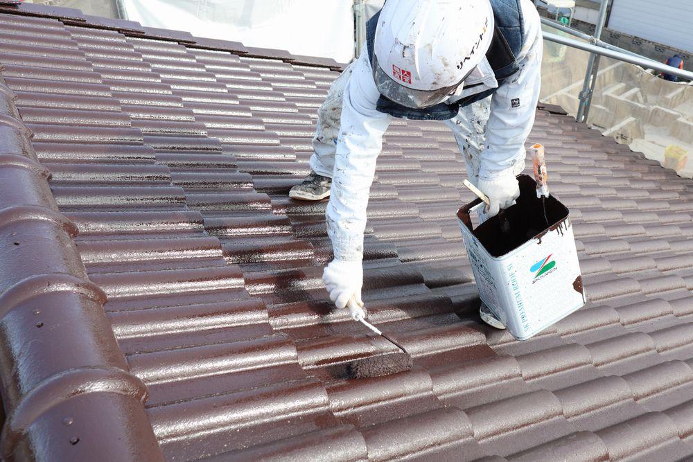 モニエル瓦、屋根塗装、リペイント匠