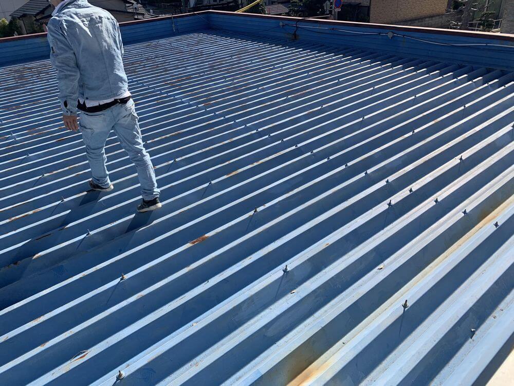 折版屋根、屋根塗装、リペイント匠